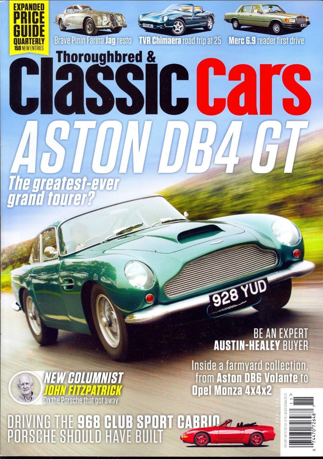 Thoroughbred & Classic Cars Magazine Issue October 2017 | eBay