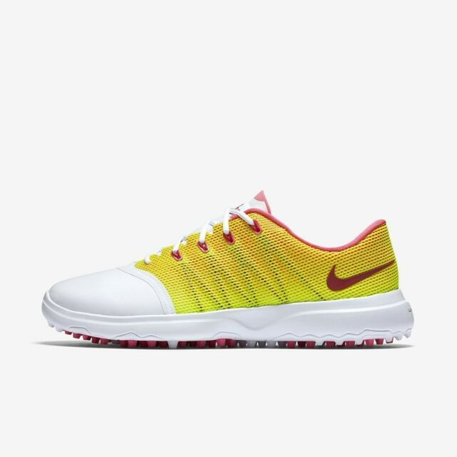Best Price Womens Golf Shoes Nike Lunar Empress 2 White Pink Blast Volt Noble Red