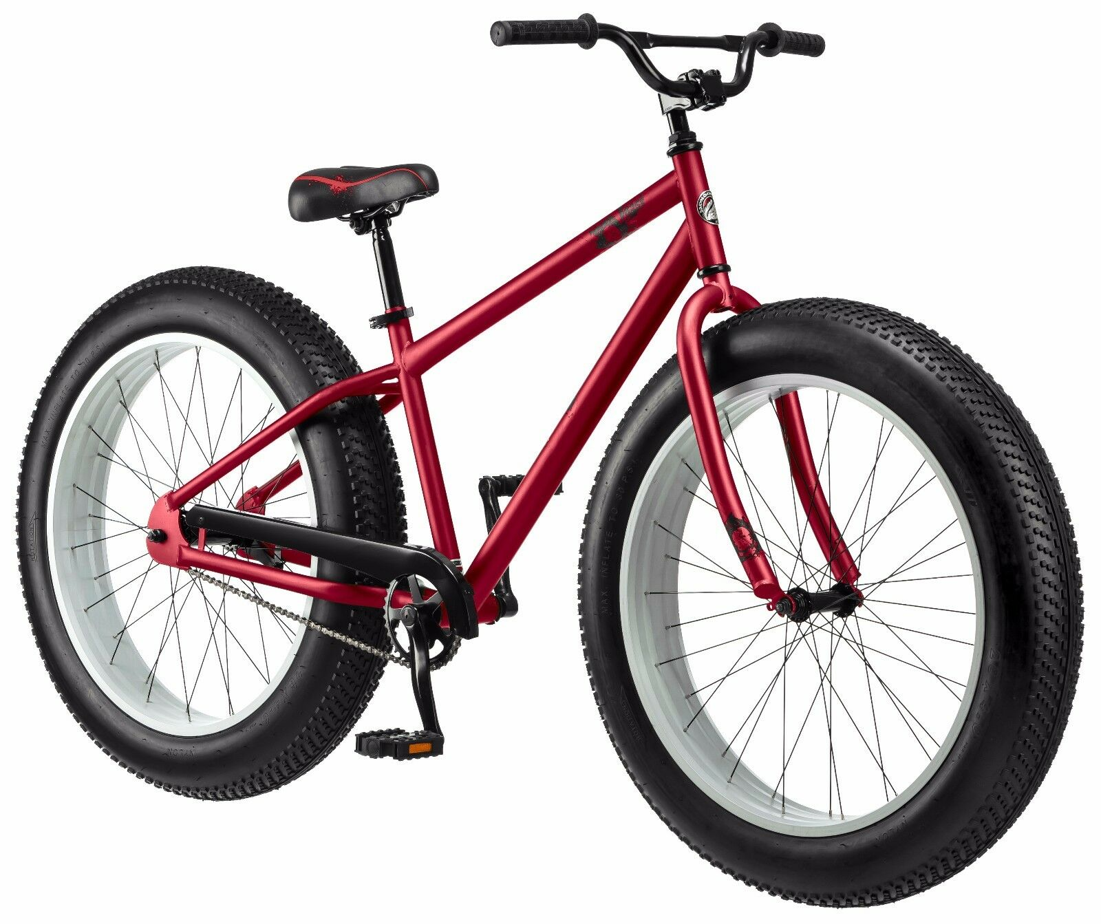 26 Fat Tire Mongoose Beast Mountain Mens Red Cruiser Bike All