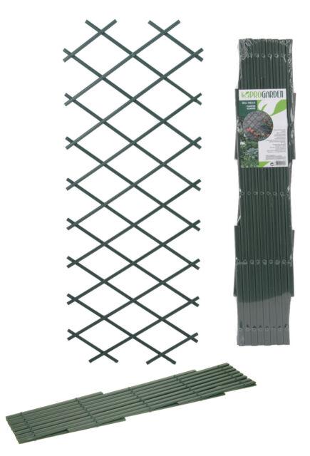 2 X Expanding Green Plastic Wall Trellis For Climbing Plants Garden Trellis