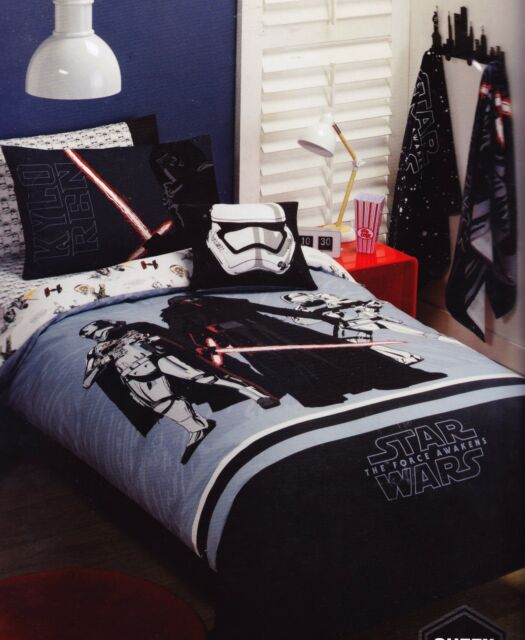 Star Wars The Force Storm Trooper Darth Vader Queen Bed Quilt Cover