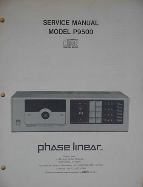 phase linear pl p9500 cd player service manual 34 pages ebay rh ebay com phase linear 3300 service manual phase linear 4000 service manual