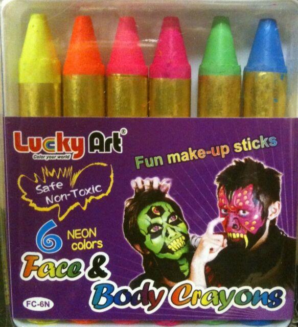 uv neon face paint make up sticks crayon halloween ultra violet not