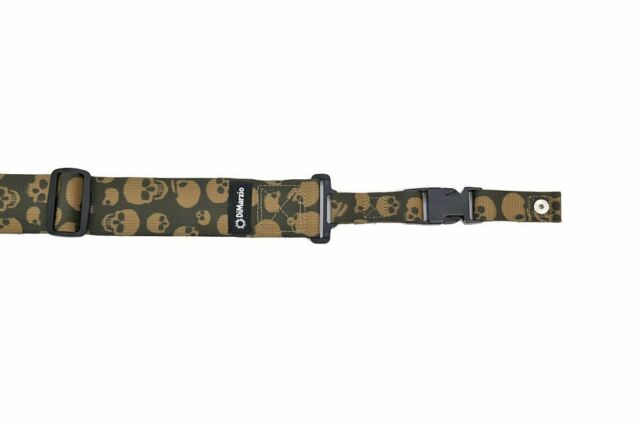 DiMarzio Cliplock Quick Release Guitar Strap - camouflage / Skulls - DD2200MGSK