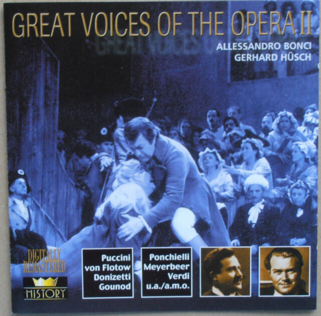Great Voices of the Opera II - Allessandro Bonci, Gerhard Hüsch - 2 CDs
