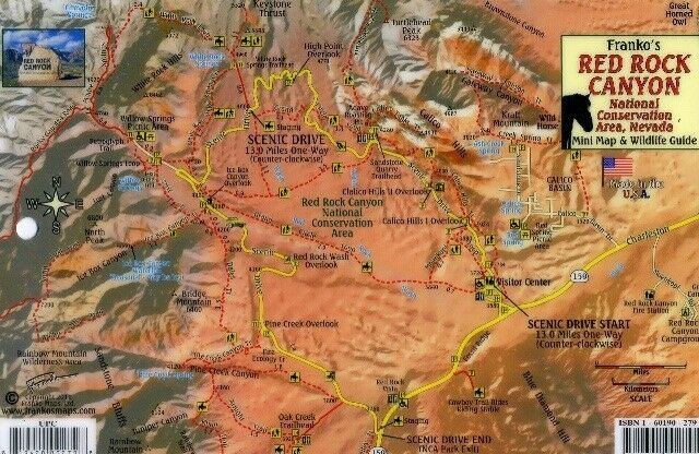 Red rock canyon nevada map wildlife guide laminated card by resntentobalflowflowcomponenttechnicalissues gumiabroncs Choice Image