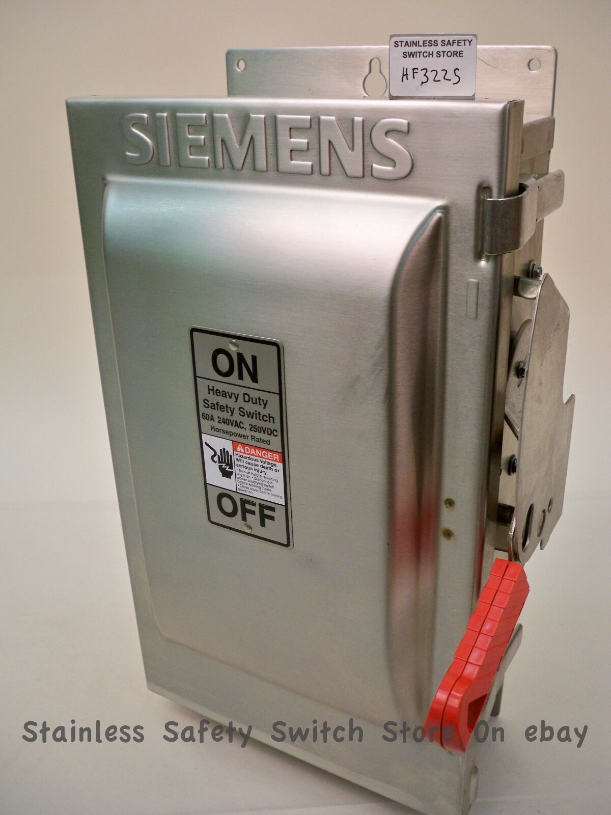 Siemens stainless hf322s 60 amp 240 volt 3ph fused safety siemens stainless hf322s 60 amp 240 volt 3ph fused safety disconnect switch new sciox Images