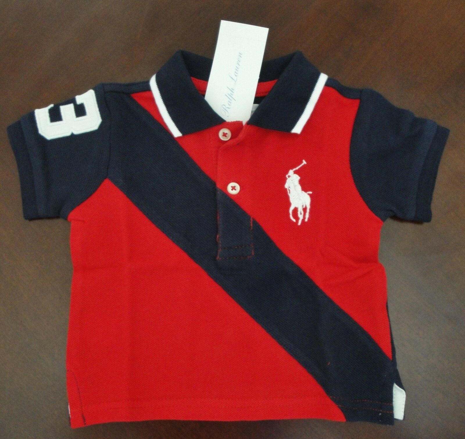 Red Ralph Lauren Polo Shirt For Toddlers Joe Maloy