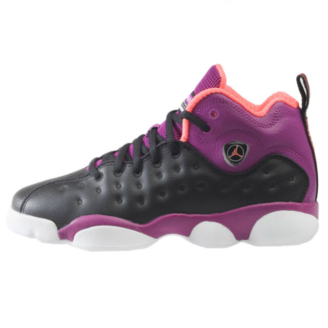 1830ef84f277c6 ... closeout jordan jumpman team ii big kids 820276 008 black purple shoes  youth size 8.5 be2c9 ...