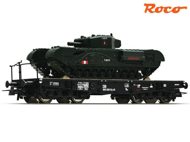 Roco 67428 H0 Schwerlastwagen mit Panzer der DB ++ NEU & OVP ++