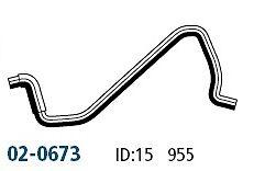 GATE NISSAN Navara (D21) (TD27) 1987-96 Heater to Eng Hose - 02-0673
