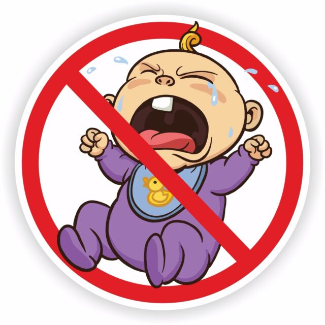 No cry babies sticker baby for bumper door car truck fridge
