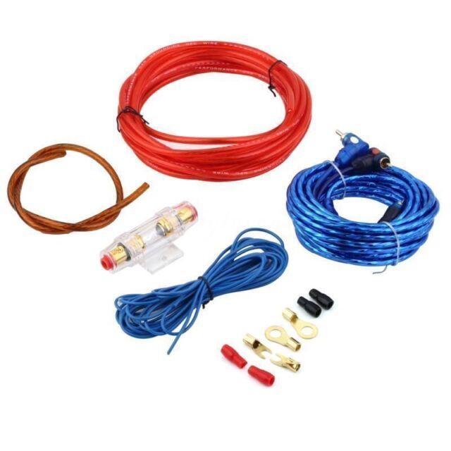 1500w 8ga car audio subwoofer amplifier amp wiring fuse holder wire rh ebay com