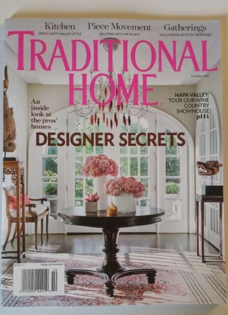 Traditional Home Magazine October 2011 DESIGNER Secrets Master Color ...
