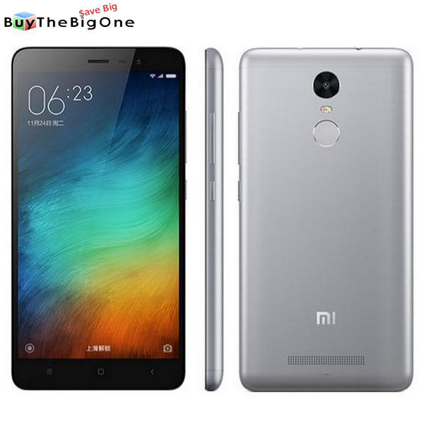 """Xiaomi Redmi Note 3 High Edition 5.5"""" Smartphone 4G LTE Octa Core 3+32GB Grigio"""