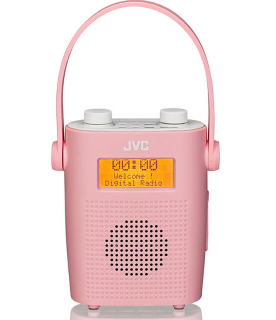 Jvc Ra D11 P Portable Dab Digital Fm Clock Shower Radio Pink