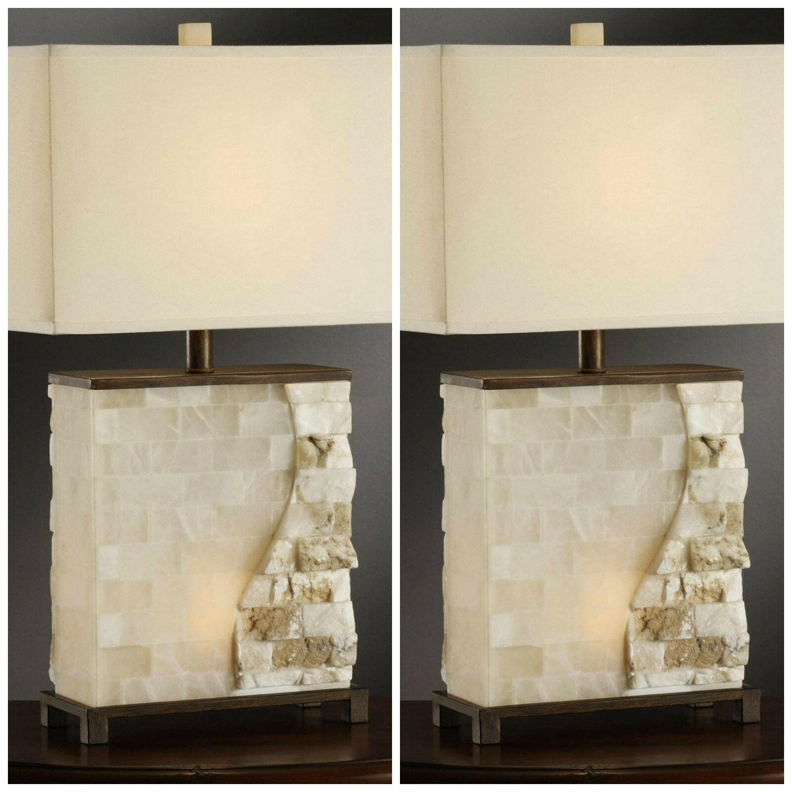Crestview collection vista stacked stone table lamp ebay picture 1 of 2 geotapseo Gallery