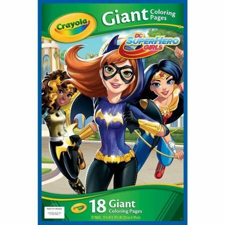 Crayola DC Superhero Girls Giant Coloring Pages 18 Count | eBay