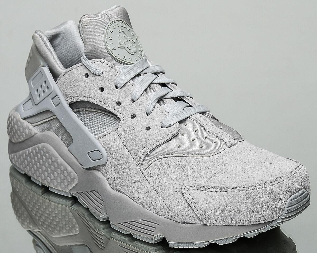 Nike Air Huarache Run Premium PRM men lifestyle casual sneakers NEW neutral grey