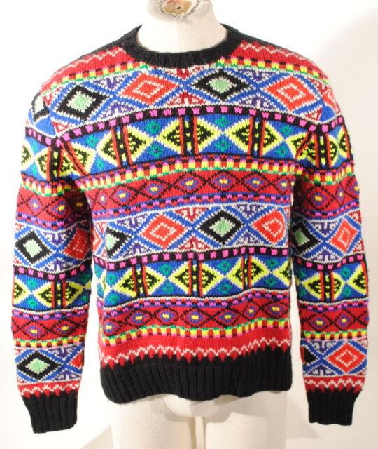 Polo Ralph Lauren Hand Knit 100 Merino Wool Sweater Sz M   eBay