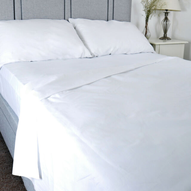 Luxury Pure 100% Cotton Flat Bed Sheet Hospital Quality | King Size