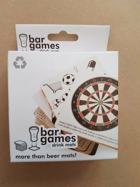 DRINKING GAME BAR DRINKS MAT MATS 30 DIFFERENT PARTY GAMES PUB STUDENT BAR FUN
