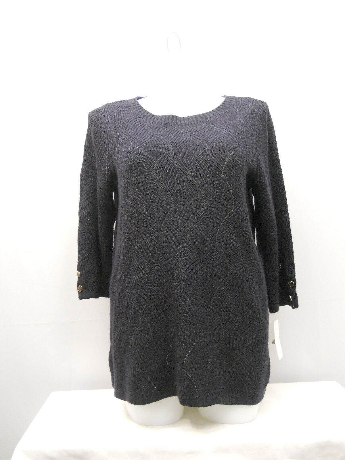 Charter Club 2518 Plus Size 1x Navy Blue Textured Pullover Sweater ...