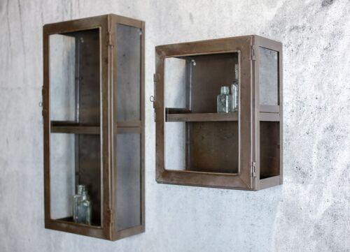 antico industriale in metallo e vetro porte muro armadio scaffale ... - Scaffali Metallo E Vetro