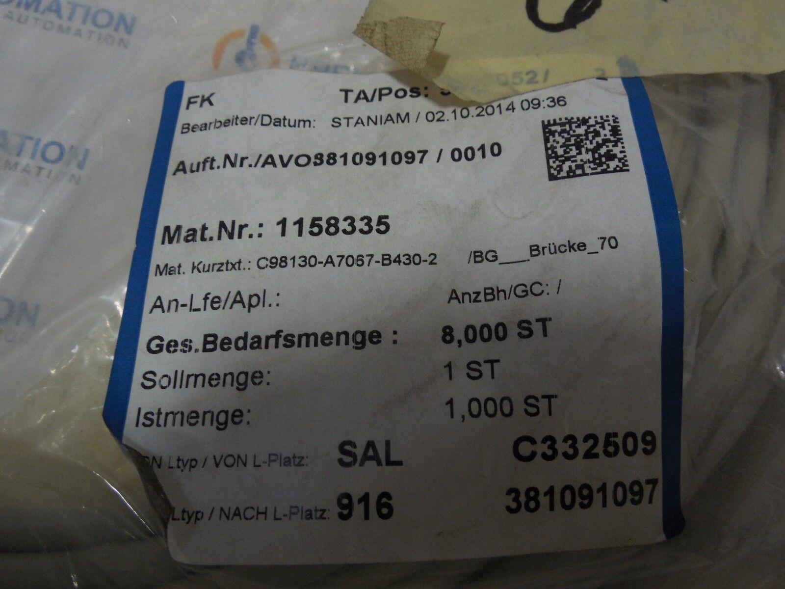 Siemens 6ry1807-0cm05 Set of Wires for Heat Sink Temperature ...
