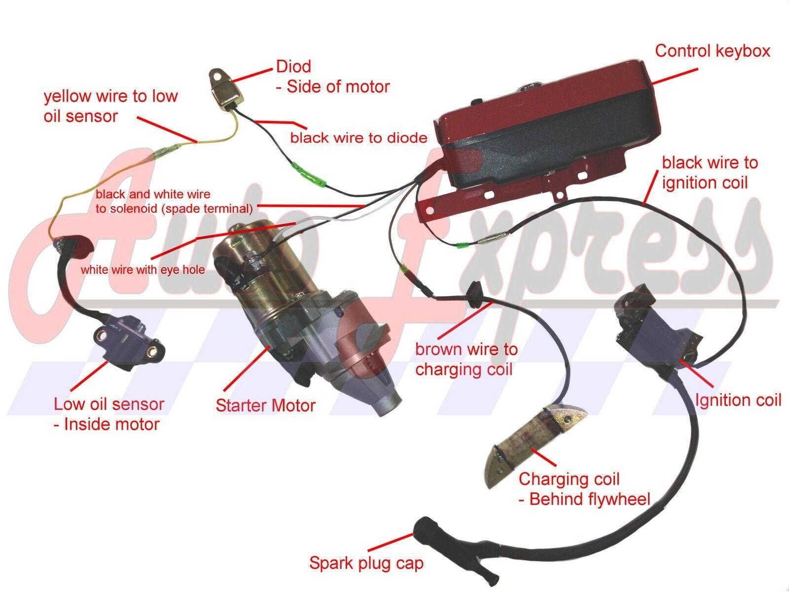 honda gx390 lawnmower starter ebay rh ebay com Honda GX160 Wiring Honda GX670 Carb Diagram