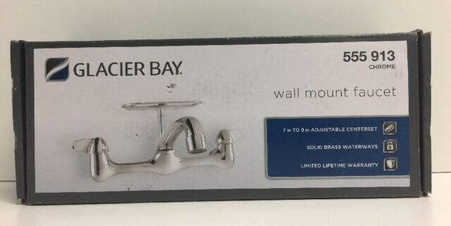 Glacier Bay 2-handle Wall-mount Kitchen Faucet With Soap Dish in ...