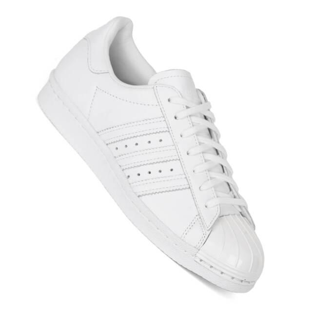 ADIDAS SUPERSTAR metallo punta bianco scarpe donna s76540 metallo berretto