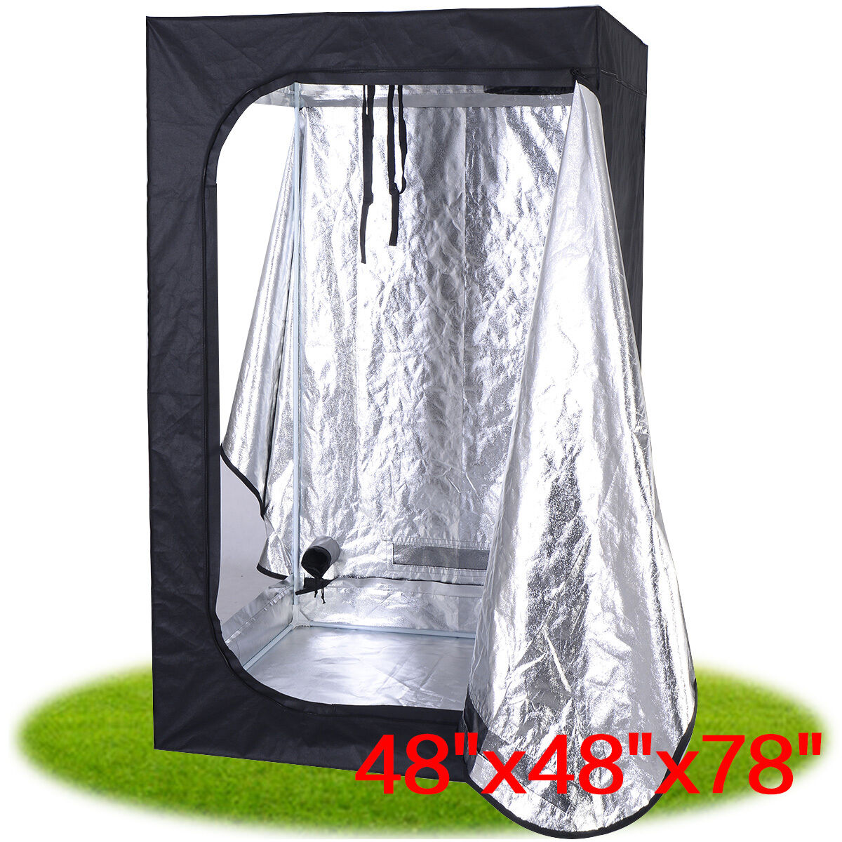 Picture 1 of 9 ...  sc 1 st  eBay & Giantex Indoor Grow Tent Room Reflective MYLAR Hydroponic Non ...
