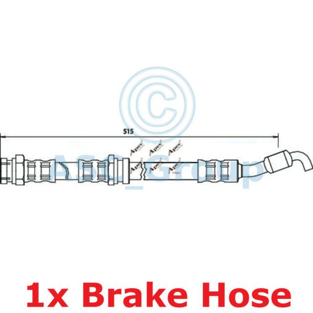 Apec Braking 515mm Disc Brake Caliper Flexible Rubber Hose HOS3405