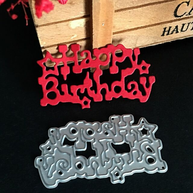 Happy Birthday Cutting Dies DIY Scrapbooking Embossing Album Paper Cards Craft