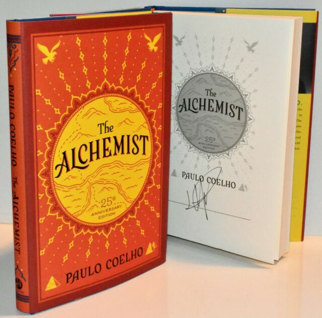 signed st printing the alchemist th anniversary edition by   signed the alchemist anniv edition by paulo coelho new