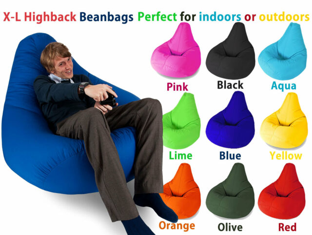 XL Highback Beanbag Gaming Beanbags Bean bag seating for indoors and outdoors