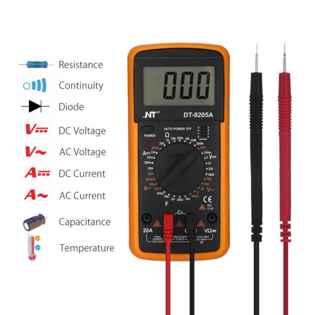 Digital Multimeter 20a 1000v : Digital ac dc multimeter voltmeter ammeter ohm a auto