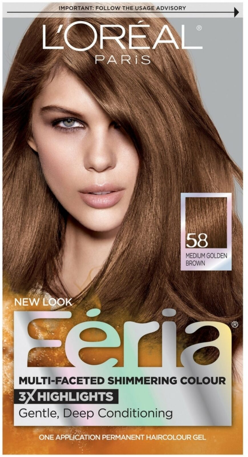 The look at home using l oreal paris feria smokey pastels in p2 smokey - L Oreal Feria Haircolor Gel 58 Bronze Shimmer Medium Golden Brown 1