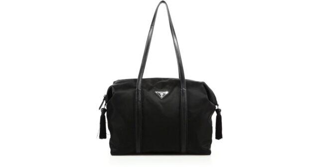 0569d0037f3 ... germany 100 authentic new prada nylon leather tassel duffle handbag  purse tote bag ad89f 313ff