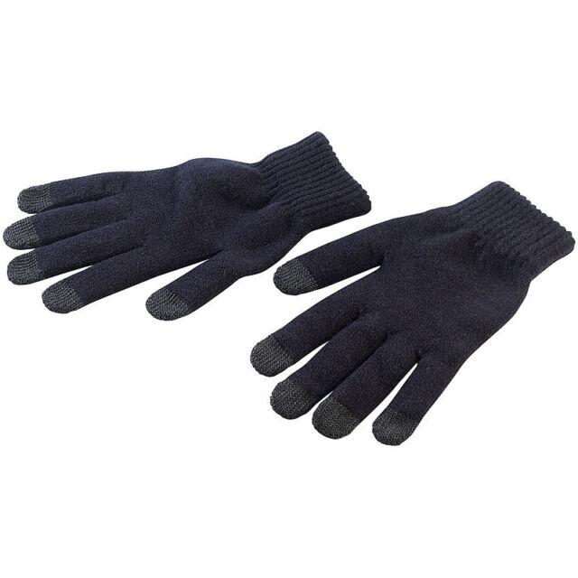 Touchscreenhandschuh: Strick-Handschuhe mit 5 Touchscreen-Fingerkuppen Gr. XL