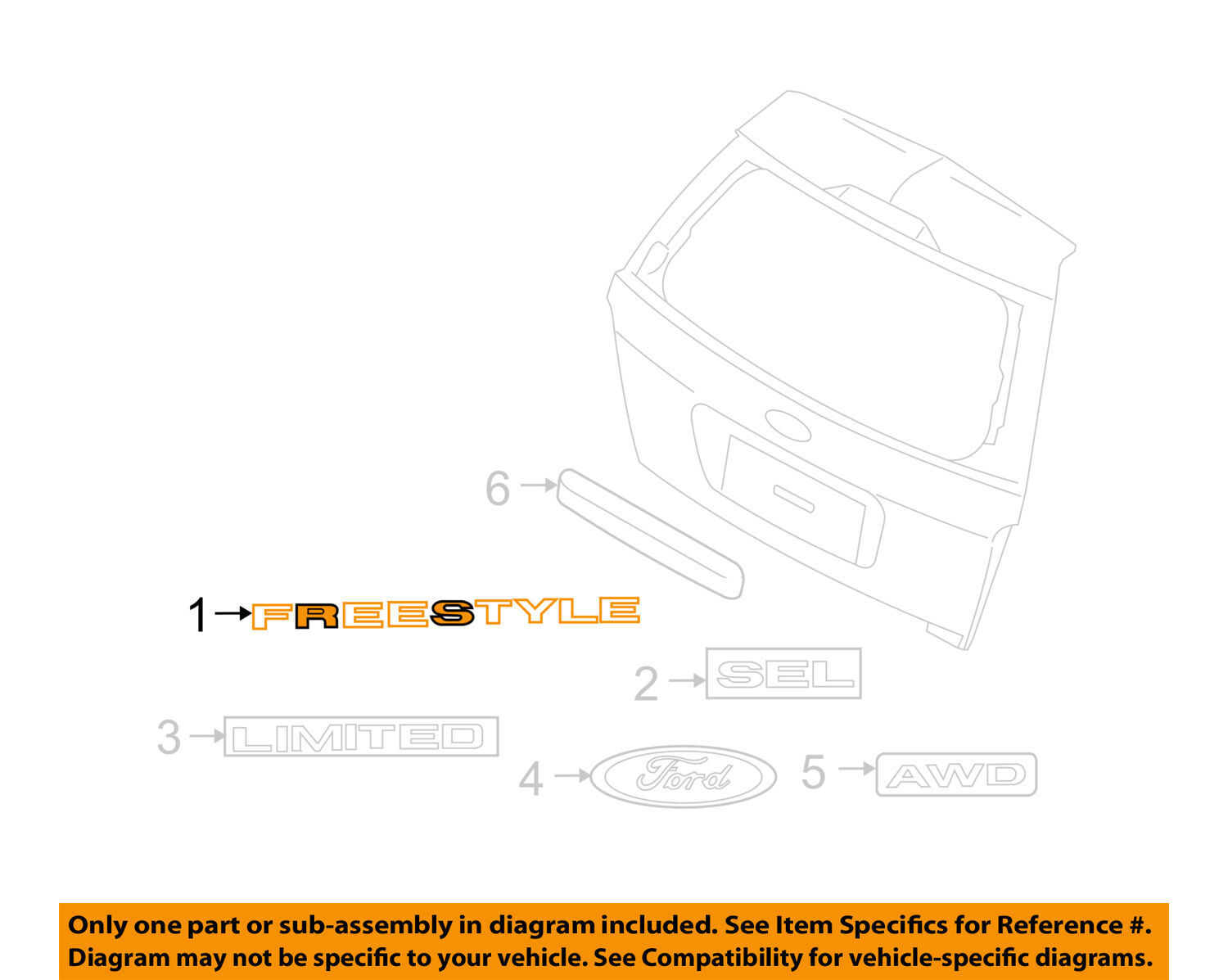 2005 Ford Freestyle Parts Diagram Motor Mount Transmission Wiring Liftgate Electrical Drawing List 2006 2007
