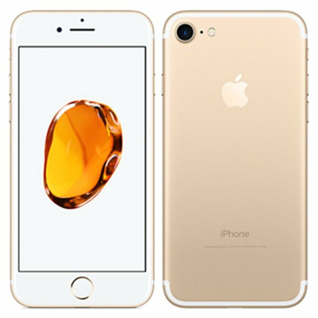 Neuf Apple iPhone 7 128Go Or Factory Unlocked A1660+Gift