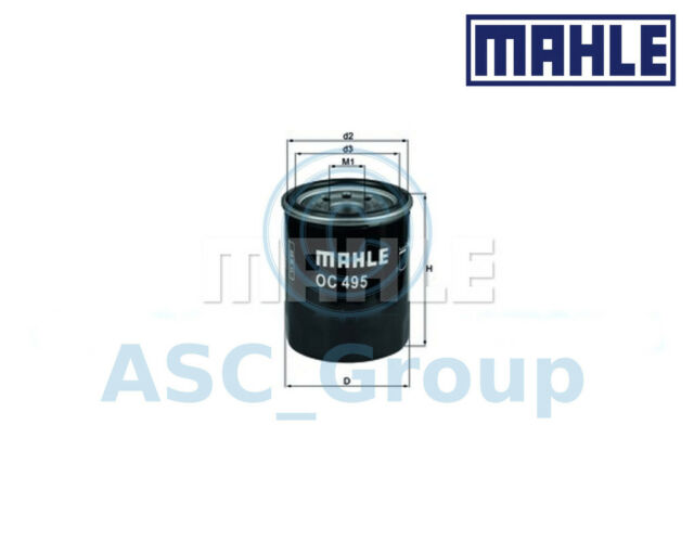 Genuine MAHLE Replacement Screw-on Engine Oil Filter OC 495 OC495