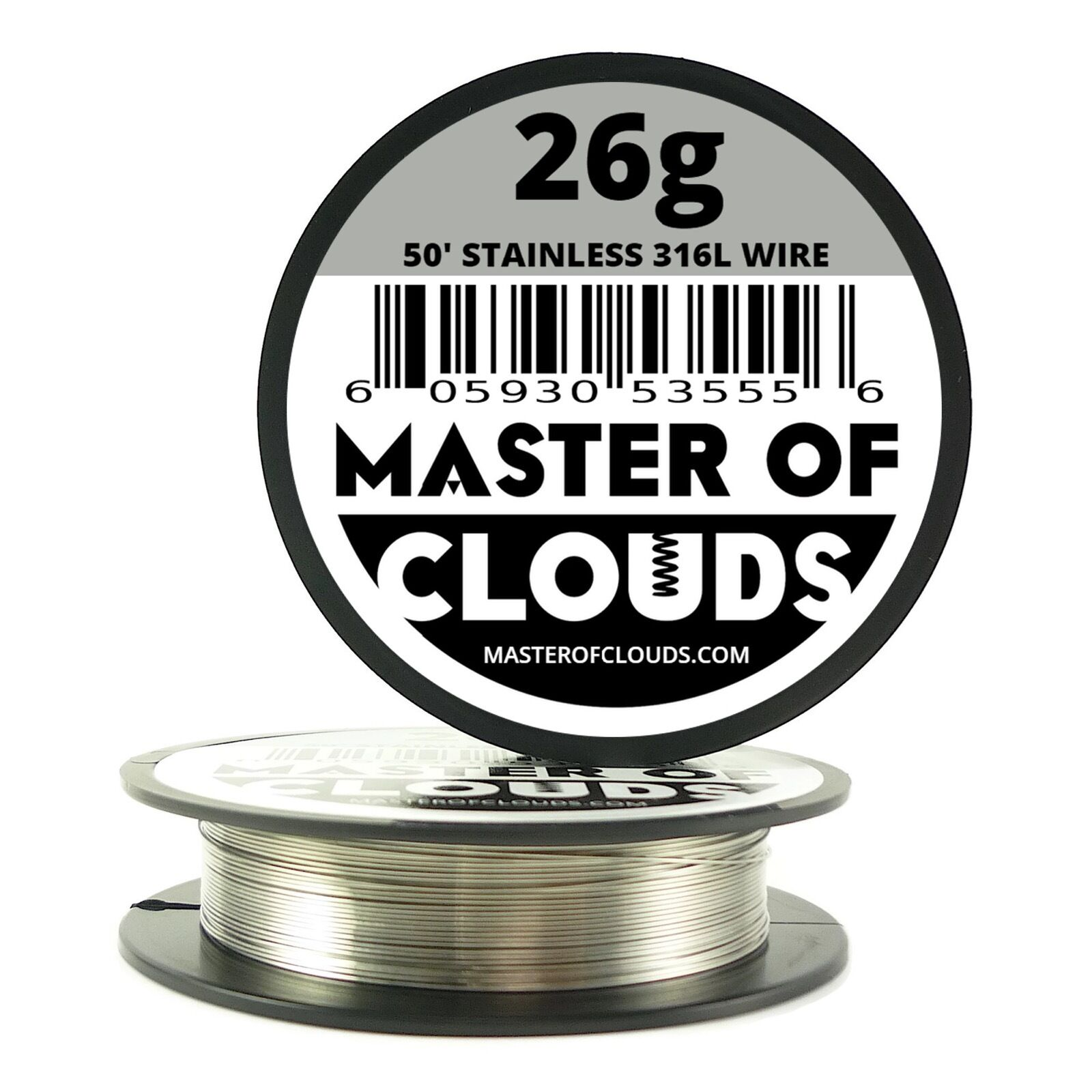 SS 316l - 50 Ft. 26 Gauge AWG Stainless Steel Resistance Wire 0.40 ...