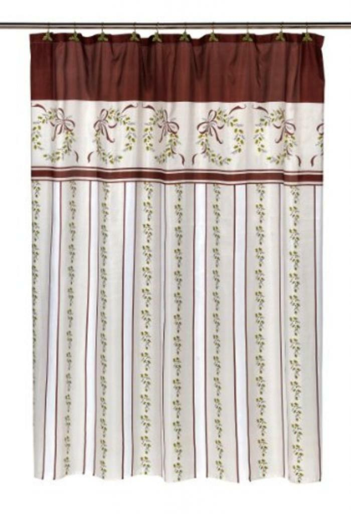 Carnation Home Fashions Victorian Christmas Fabric Shower Curtain | eBay