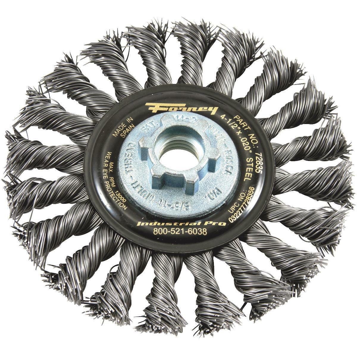 Forney Industrial Pro Twist Knot Angle Grinder Wire Wheel - Walmart ...