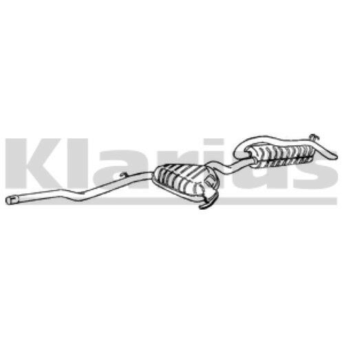 1x KLARIUS OE Quality Replacement Rear / End Silencer Exhaust For FIAT Diesel