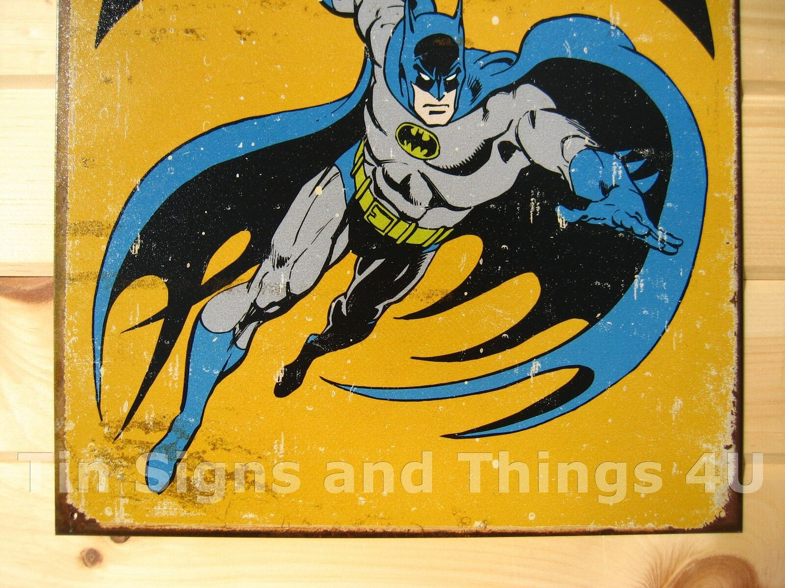 Retro Batman Tin Sign Vtg Metal Poster DC Comics Book Superhero Wall ...