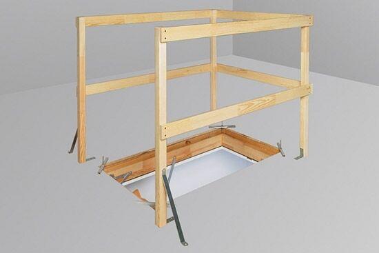 fakro loft ladder balustrade lxb standard size for all wooden attic loft ladders
